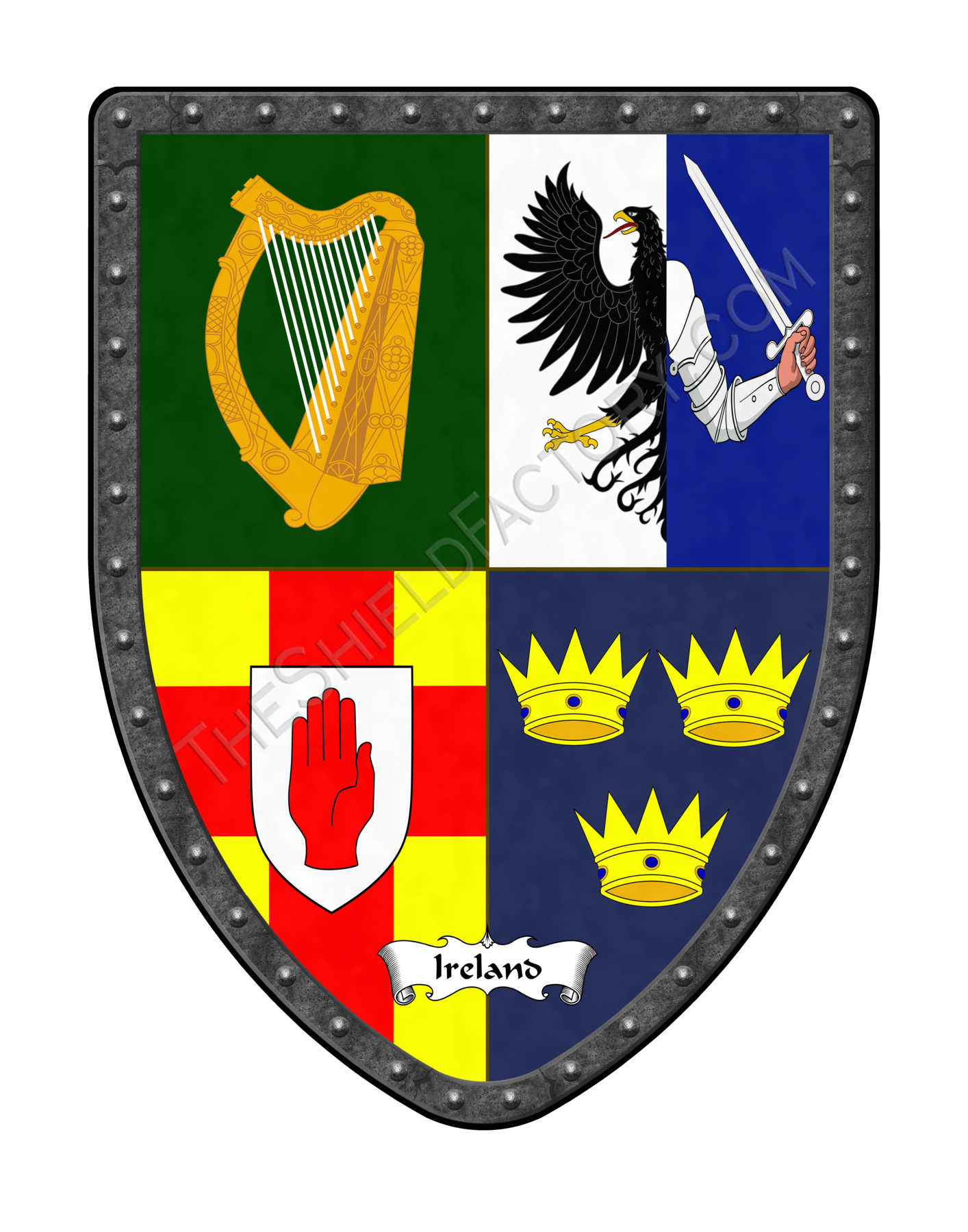 Countries of eurepe royal coat of arms shields england quadrant ireland royal coat of arms shield buycottarizona Images