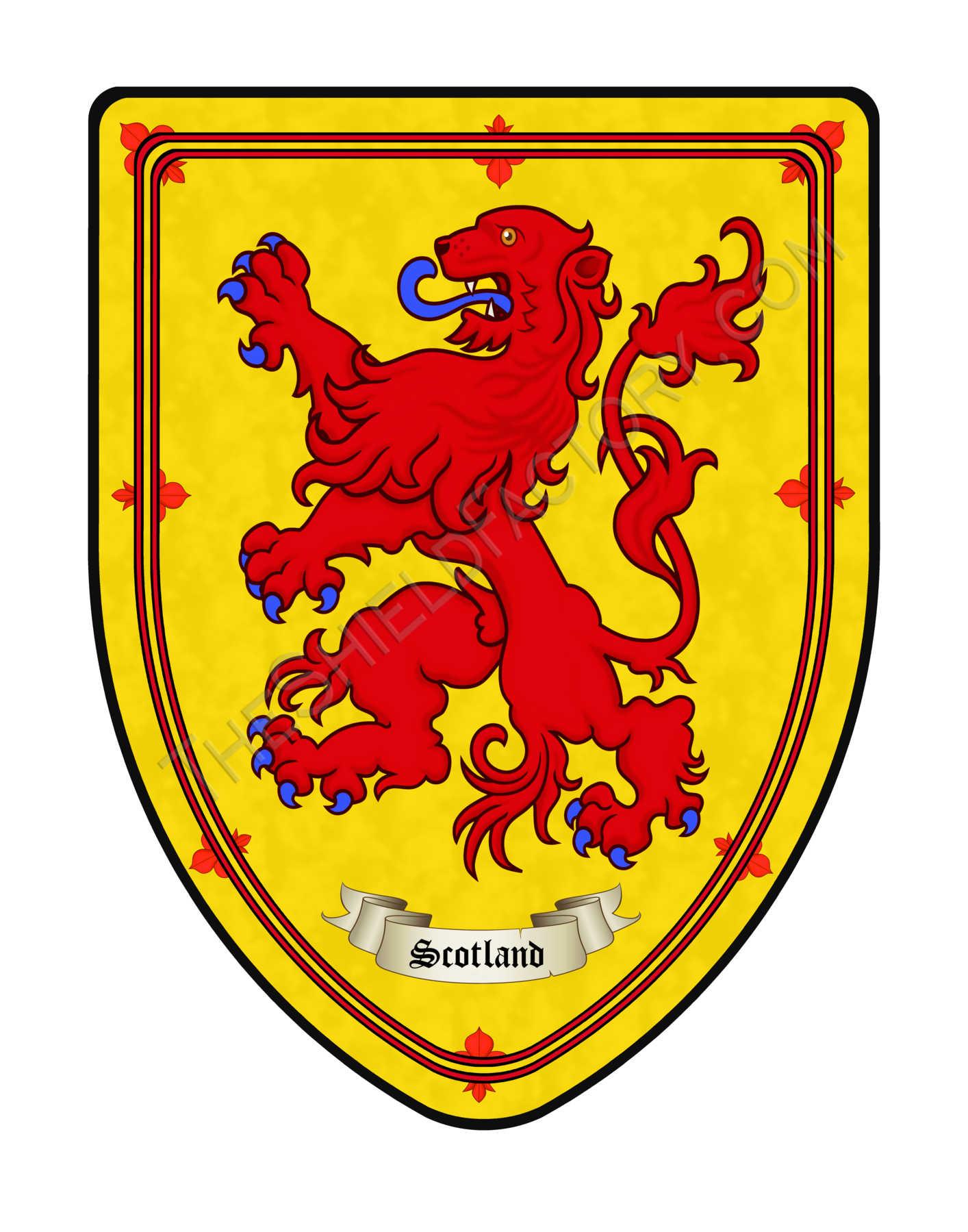 Картинки герба и флага в шотландии